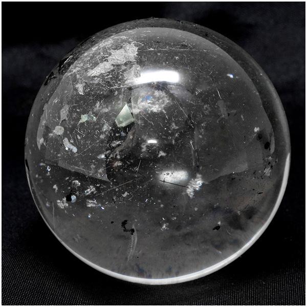 天然水晶 丸玉 約44mm 天然石 パワーストーン 水晶 水晶玉 原石 置物 クリスタルクォーツ プレゼント 人気
