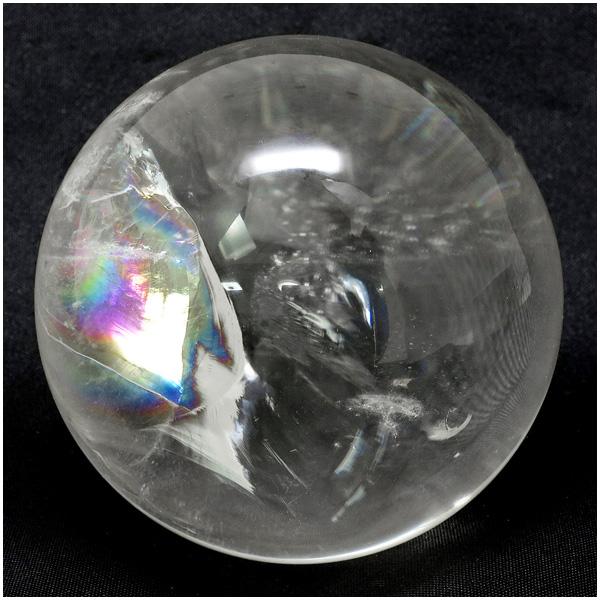 最高級 天然 虹入り水晶 丸玉 約53mm 天然石 パワーストーン 水晶 水晶玉 原石 置物 レインボークォーツ 天然水晶 プレゼント 人気