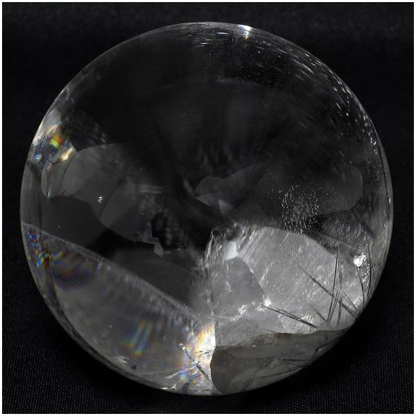 最高級 天然 貫入水晶 丸玉 約48mm 天然石 パワーストーン 水晶 水晶玉 原石 置物 クォーツインクォーツ 天然水晶 希少 クリスタルクォーツ プレゼント 人気