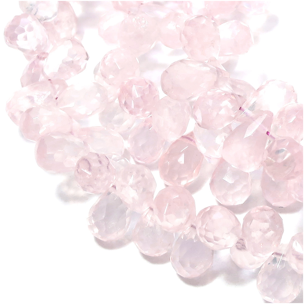 Natural stone beads (drop cut) 4 coin set natural stone grain selling stone  sold Rose Quartz Beach - size red quartz natural stone bead beads natural