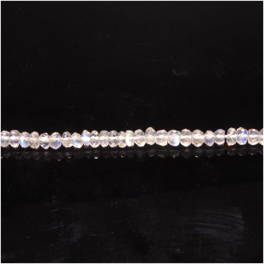 天然石 ブルームーンストーン 6月 誕生石 ビーズ パワーストーン ワイヤー等を使用してアクセサリーを作るのにお使い頂けます 上質 3×2mm 超目玉 ボタンカット パーツ おしゃれ プレゼント 人気 ビ-ズ 月長石 10cm連 ムーンストーン パワ-スト-ン