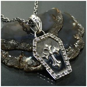 十字キュービックジルコニア棺 シルバーネックレス 925 銀の蔵 メンズ ネックレス 男性用 メンズネックレス 男性用ネックレス プレゼント 人気 おしゃれ