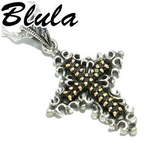 Blula ブラック クロス シルバーネックレス 925 銀の蔵 メンズ ネックレス 男性用 十字架 メンズネックレス 男性用ネックレス ブランド プレゼント 人気 彼氏 おしゃれ