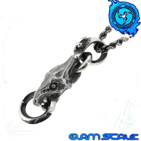 GLAM SCALE 6T-009 シルバー ネックレス シルバー925 メンズ ペンダント ワイバーン 竜 龍 ドラゴン 6t009 メンズネックレス 男性用ネックレス グラムスケイル ブランド プレゼント 人気 彼氏 おしゃれ