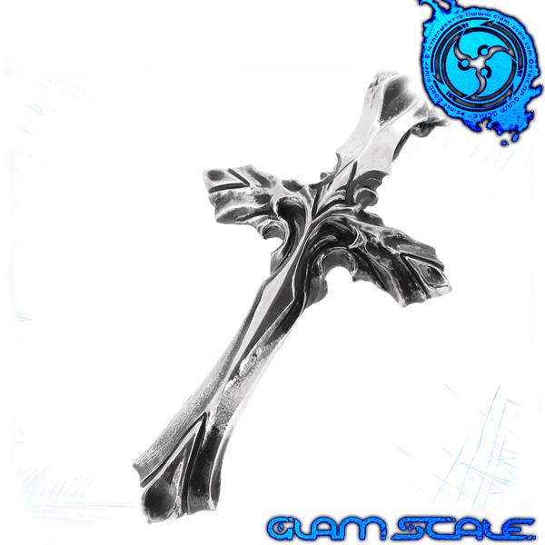GLAM SCALE EN-010 イヴォルバー シルバー ネックレス Evolver シルバー925 メンズ 植物 クロス Tバー en010 メンズネックレス 男性用ネックレス グラムスケイル ブランド プレゼント 人気 彼氏 おしゃれ