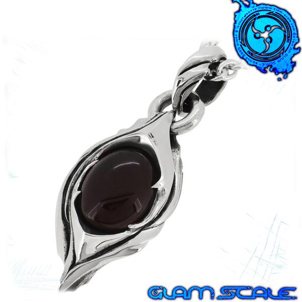 GLAM SCALE ET-003CA イヴォルバー シルバー ネックレス Evolver シルバー925 メンズ ペンダント 天然石 チェリーアンバー 琥珀 葉 蕾 実 et003ca メンズネックレス 男性用ネックレス グラムスケイル ブランド