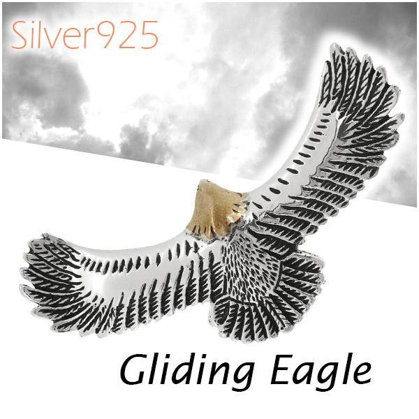 Native eagle silver pendant top size men necklace wing wing Hatori eagle  hawk hawk Hawks falcon natural native native American Indian silver 925