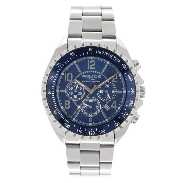 POLICE ポリス シルバー ネイビー ブルー ウォッチ 腕時計 メンズ アクセサリー ファッション メンズ腕時計 人気腕時計 ブランド時計 ステンレスバンド 12545js-03ma プレゼント 男性 おしゃれ