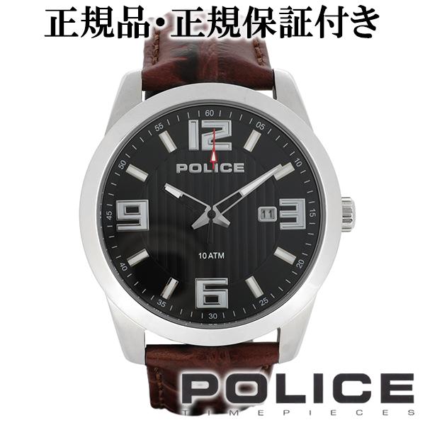 POLICE ポリス TROPHY トロフィー ブラック レザー デイト ウォッチ 本革ベルト 腕時計 メンズ 時計 アクセサリー カジュアル ファッション 13406JS-02A メンズ腕時計 人気腕時計 ブランド時計 プレゼント 男性 おしゃれ