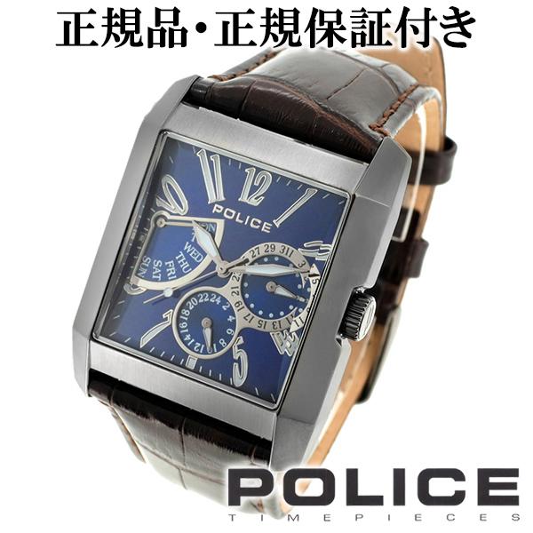 POLICE ポリス KING's AVENUE キングスアベニュー ブルー ブラック マルチファンクション 本革ベルト ウォッチ メンズ 腕時計 時計 アクセサリー フォーマル ファッション 本革 牛革 革 メンズ腕時計 人気腕時計 ブランド時計 プレゼント 男性