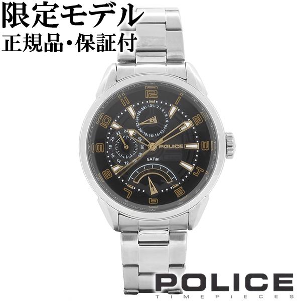 POLICE ポリス 限定モデル FLASH フラッシュ ブラック ゴールド マルチファンクション ウォッチ 腕時計 メンズ 時計 アクセサリー フォーマル ファッション 限定 日本限定 14407JS-02MA ブランド プレゼント 人気 男性 おしゃれ