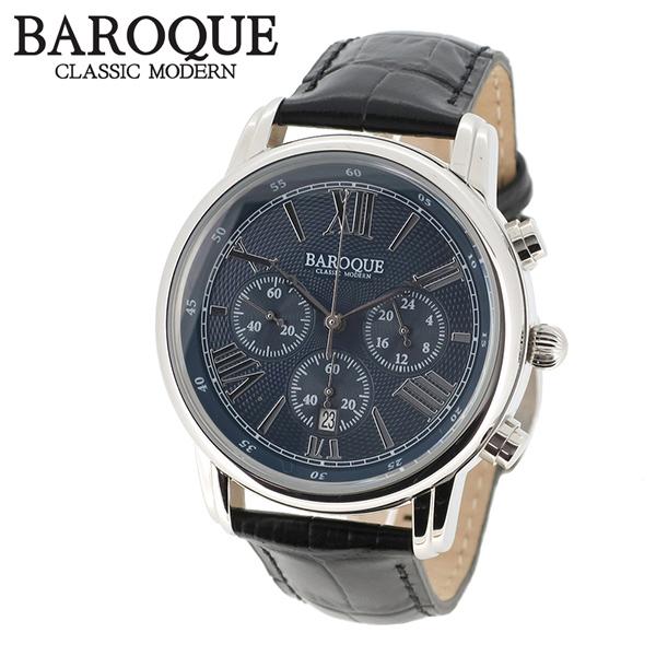 BAROQUE 腕時計 ブランド ウォッチ CLASSICO BA1003S-03B 時計 メンズ アクセサリー ファッション 本革 カジュアル バロック メンズ腕時計 人気腕時計 ブランド時計 プレゼント おしゃれ