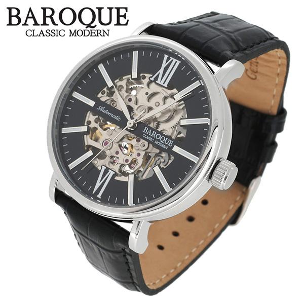 BAROQUE 腕時計 ブランド ウォッチ GLANZ BA1007S-02B グランツ 時計 メンズ 紳士 かっこいい 男性用 シースルー スケルトン バックスケルトン 自動巻き オートマチック メンズ腕時計 人気腕時計 ブランド時計 プレゼント 彼氏 おしゃれ