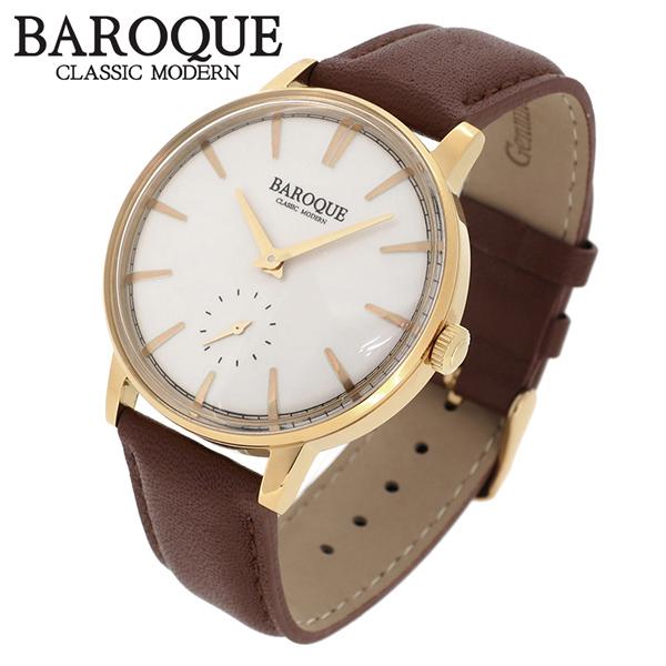 BAROQUE 腕時計 ブランド ウォッチ VECCHIO BA1008G-01BR ベッキオ ヴェッキオ 時計 メンズ 紳士 かっこいい クォーツ 本革ベルト クラシック ヴィンテージ 日本製ムーブメント 電池式 人気 プレゼント 彼氏 おしゃれ