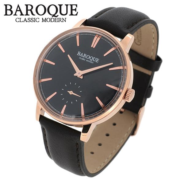 BAROQUE 腕時計 ブランド ウォッチ VECCHIO BA1008RG-02BR ベッキオ ヴェッキオ 時計 メンズ 紳士 かっこいい クォーツ 本革ベルト クラシック ヴィンテージ 日本製ムーブメント 電池式 人気 プレゼント 彼氏 おしゃれ