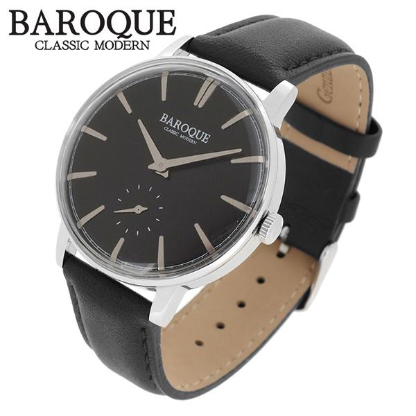 BAROQUE 腕時計 ブランド ウォッチ VECCHIO BA1008S-02B ベッキオ ヴェッキオ 時計 メンズ 紳士 かっこいい クォーツ 本革ベルト クラシック ヴィンテージ 日本製ムーブメント 電池式 人気 プレゼント 彼氏 おしゃれ