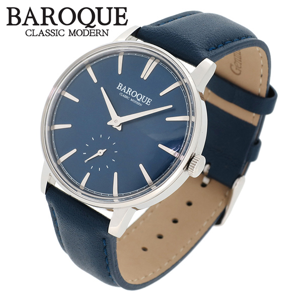 BAROQUE 腕時計 ブランド ウォッチ VECCHIO BA1008S-03BL ベッキオ ヴェッキオ 時計 メンズ 紳士 かっこいい クォーツ 本革ベルト クラシック ヴィンテージ 日本製ムーブメント 電池式 人気 プレゼント 彼氏 おしゃれ