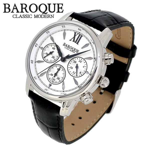 BAROQUE 腕時計 ブランド ウォッチ CLASSICO 38 BA1009S-01B クラシコ38 時計 メンズ 紳士 かっこいい クォーツ 本革ベルト クラシック ヴィンテージ 日本製ムーブメント 電池式 人気 プレゼント 彼氏 おしゃれ