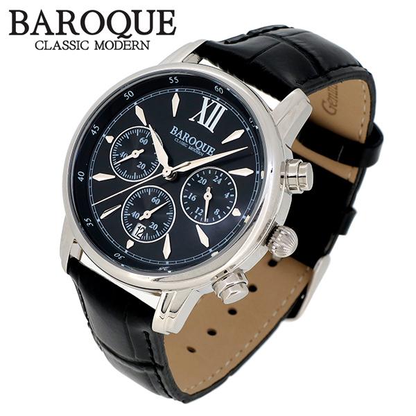 BAROQUE 腕時計 ブランド ウォッチ CLASSICO 38 BA1009S-02B クラシコ38 時計 メンズ 紳士 かっこいい クォーツ 本革ベルト クラシック ヴィンテージ 日本製ムーブメント 電池式 人気 プレゼント 彼氏 おしゃれ
