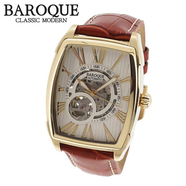 BAROQUE ライトブラウン 腕時計 ブランド ウォッチ TREVI BA2001G-01br 時計 メンズ アクセサリー ファッション 本革 カジュアル バロック メンズ腕時計 人気腕時計 ブランド時計 プレゼント おしゃれ