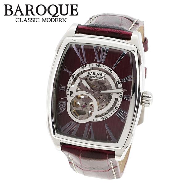 BAROQUE ブラウン 腕時計 ブランド ウォッチ TREVI BA2001S-16br 時計 メンズ アクセサリー ファッション 本革 カジュアル バロック メンズ腕時計 人気腕時計 ブランド時計 プレゼント おしゃれ:新宿 銀の蔵