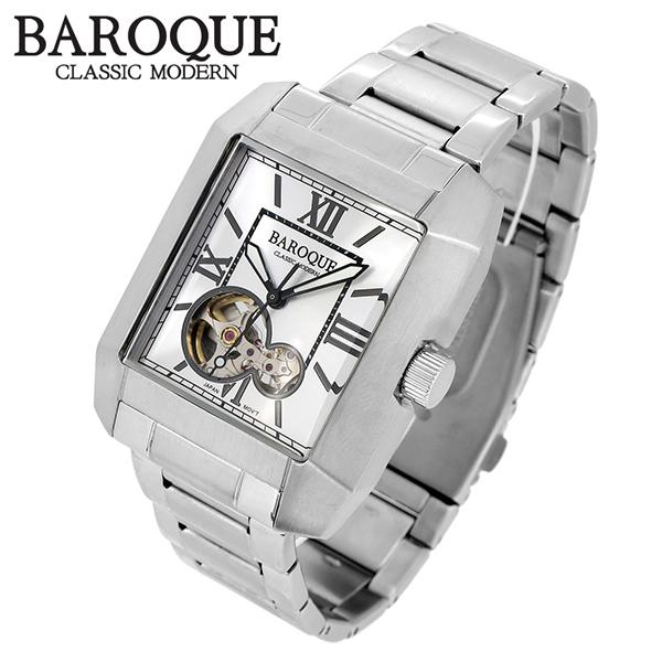BAROQUE バロック QUADRO クアドロ ウォッチ(シルバー) BA2004S-04M 腕時計 時計 メンズ 紳士 かっこいい クォーツ ステンレスベルト レクタンギュラー クラシック ヴィンテージ 日本製ムーブメント 電池式 人気 プレゼント 彼氏 おしゃれ