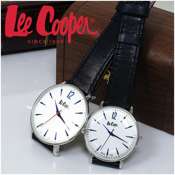 Lee Cooper 腕時計 ブランド ペア ウォッチ LC6378.339 LC6379.339 リークーパー 時計 ネイビー かっこいい クォーツ レザーベルト 革 レザーバンド クラシック ビジネス カジュアル ビジカジ イギリス ブリティッシュ 日本製ムーブメント 電池式 人気 プレゼント おしゃれ
