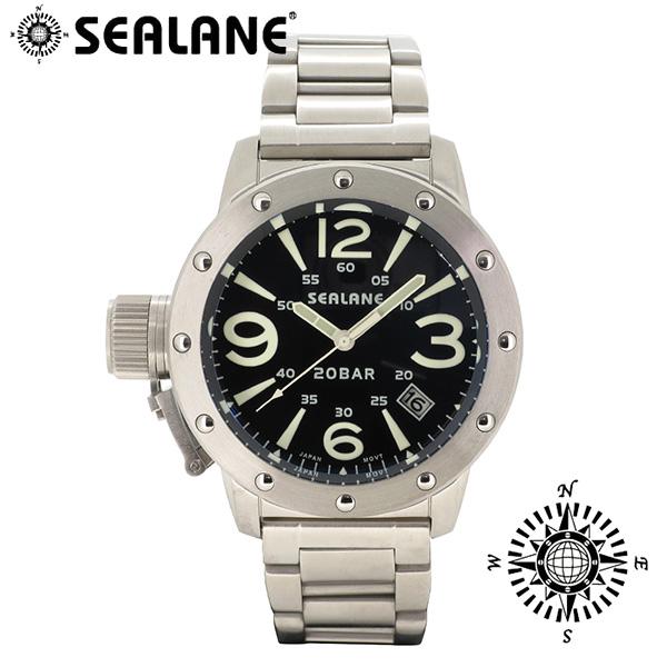 SEALANE シーレーン SE32 シリーズ ブラック メタルベルト ウォッチ クォーツ 日付 時計 メンズ 腕時計 SE32-MBK メンズ腕時計 人気腕時計 ブランド時計 プレゼント おしゃれ
