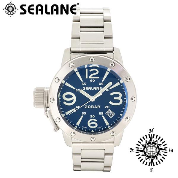 SEALANE シーレーン SE32 シリーズ ブルー メタルベルト ウォッチ クォーツ 日付 時計 メンズ 腕時計 SE32-MBL ブランド プレゼント 人気 おしゃれ