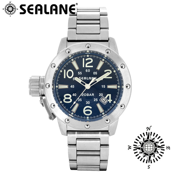 SEALANE シーレーン SE54 シリーズ ブルー 自動巻き メタルベルト ウォッチ オートマチック 自動巻 時計 メンズ 腕時計 SE54-MBL メンズ腕時計 人気腕時計 ブランド時計 プレゼント おしゃれ
