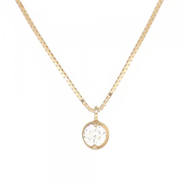 一粒 ゴールドネックレス(チェーン付きペンダント) 18金 ピンクゴールド ダイヤモンド ダイアモンド ジュエリー ネックレス ペンダント 首飾り レディース 女性 アクセサリー ギフト プレゼント おしゃれ
