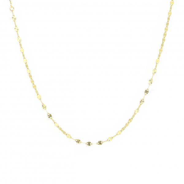エクレアチェーン ゴールドネックレス デザインチェーン 18金 イエローゴールド ジュエリー ネックレス 首飾り レディース 女性 アクセサリー ギフト プレゼント おしゃれ