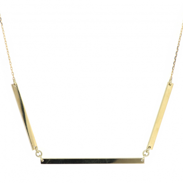 バー ゴールドネックレス スティック シンプル モード 10金 イエローゴールド ジュエリー ネックレス 首飾り レディース 女性 アクセサリー ギフト プレゼント おしゃれ