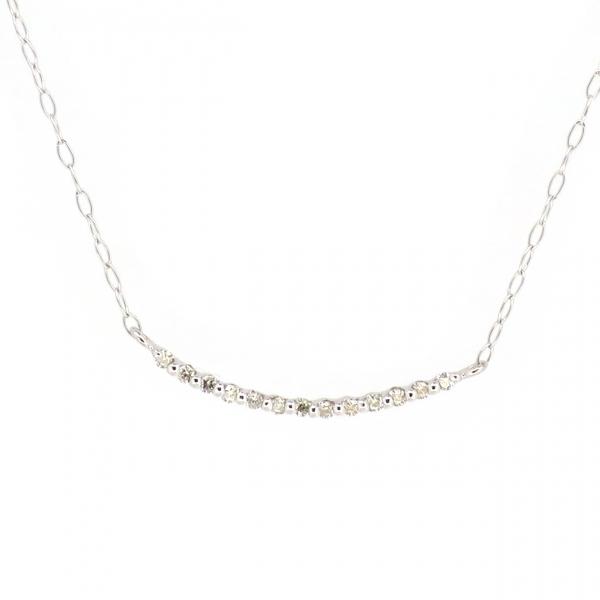 ライン ゴールドネックレス 曲線 曲線美 シンプル モード パヴェ 10金 ホワイトゴールド ダイヤモンド ダイアモンド ジュエリー ネックレス 首飾り レディース 女性 アクセサリー ギフト プレゼント おしゃれ