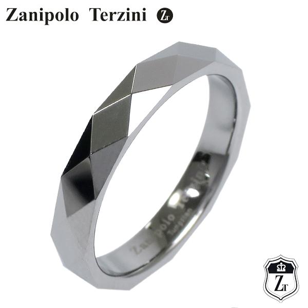 タングステン リング メンズ 指輪 シンプル ピンキーリング ダイヤ形カットでキラキラと輝く、シンプルなタングステンリング Zanipolo Terzini ダイヤ形カット タングステン ブラック リング 5~7号 メンズ レディース ユニセックス ピンキーリング 男性 ザニポロタルツィーニ メタル 指輪 メンズリング プレゼント 人気 かっこいい おしゃれ