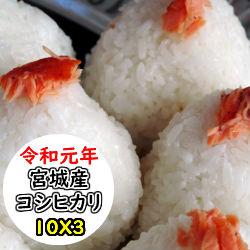 【玄米】【送料無料】令和元年産 宮城産 コシヒカリ 30kg 選べる精米方法