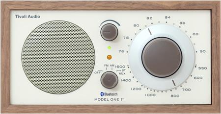 Tivoli Audio(チボリ オーディオ) Model One BT Bluetooth 5.0 ワイヤレス AM/FM ラジオ・スピーカー Classic Walnut / Beige