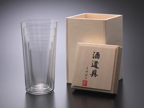 【メールマガジン希望ご選択で3%OFF!】 うすはりグラス 酒道具 〔松徳硝子〕