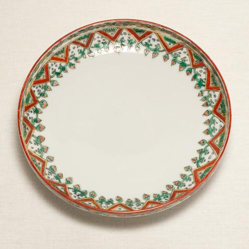 古代赤絵果実紋高台皿〔清風与平〕