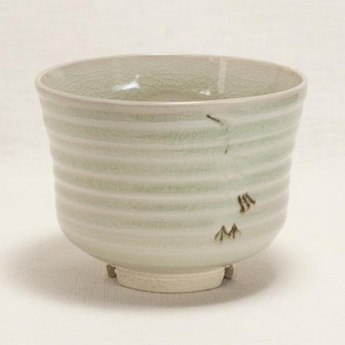 青磁立鶴 抹茶碗〔清風与平〕