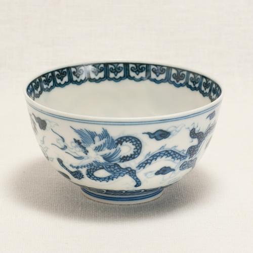 染付雲龍紋煎茶碗(碗型)〔清風与平〕