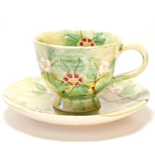 藪椿 コーヒーカップ〔陶泉窯〕