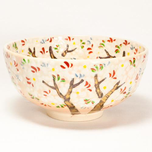 乾山写し 桜 抹茶碗〔花光山窯〕
