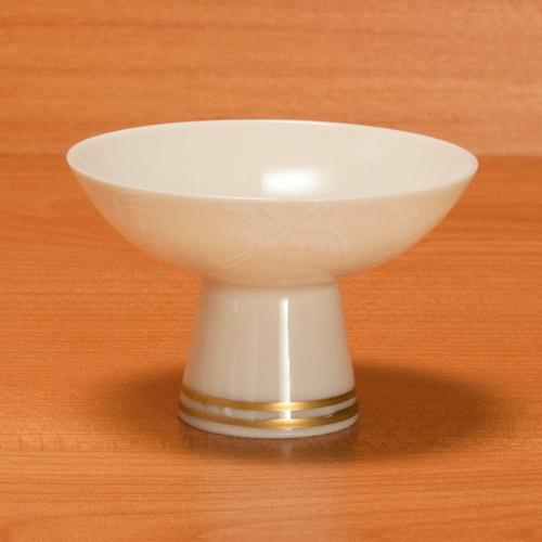 清水焼 レビューを書けば送料当店負担 蔵 京焼 鶴の絵柄の盃です 〔貴古窯〕 舞鶴高台盃 高麗磁