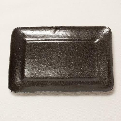 모퉁이 작은 접시(흑)〔닛타 히로미〕