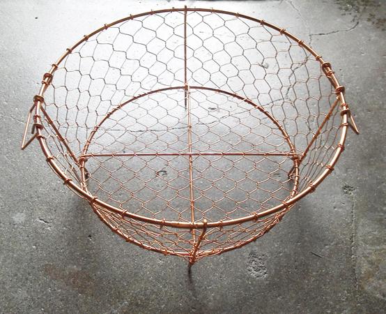 手編み かご 銅製