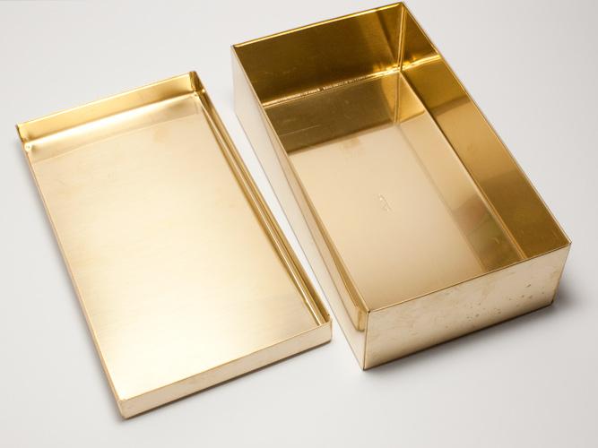 SyuRo角罐(小)黄铜