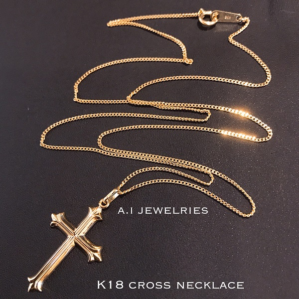 クロス ネックレス 18金 50cm cross necklace k18