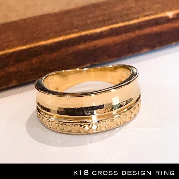 ミラーカット シンプル リング ミラー カット リング 18金 シンプル リング k18 mirror cut simple ring