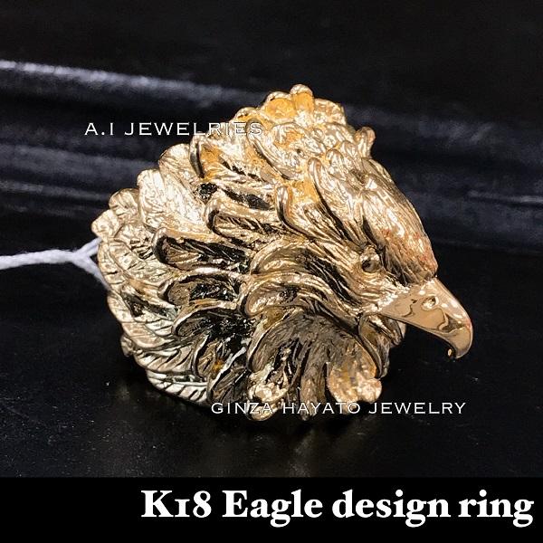 リング メンズ 18金 鷲 eagle イーグル 指輪 ジュエリー 新品 eagle ring mens k18
